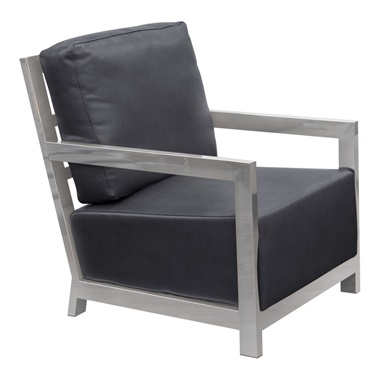 Zen Accent Chair with Stainless Steel Frame