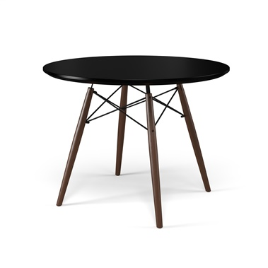 Eiffel Black Round Dining Table (Large)