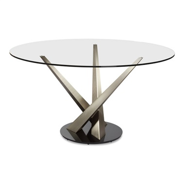 Crystal Round Dining Table