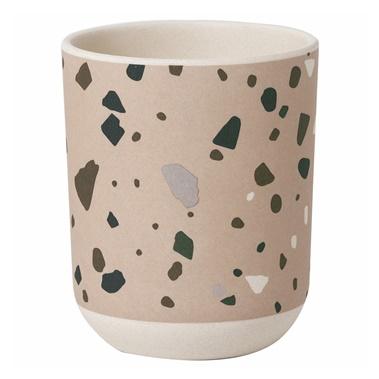 Bamboo Cup with Terrazzo Print