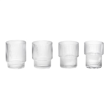 Ripple 4-Piece Glass