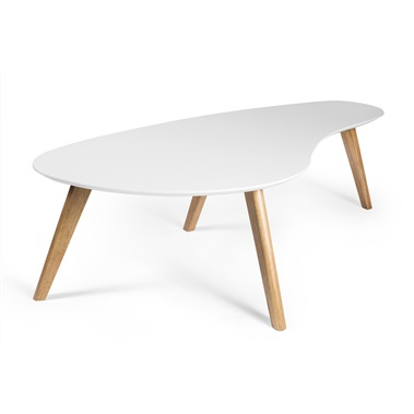 Kidney Shaped Coffee Table (White Top)
