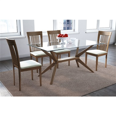 Magna Glass / Astra 5-Piece Dining Set