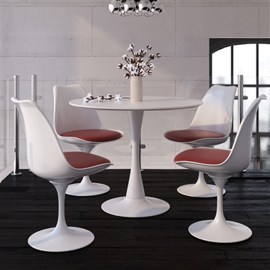 Marchesa / Saarinen 5-Piece Dining Set