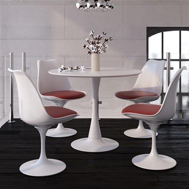 Marchesa / Saarinen 5-Piece Dining Set