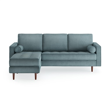 Matilde Reversible Velvet Sectional