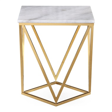 Clarence Marble Side Table