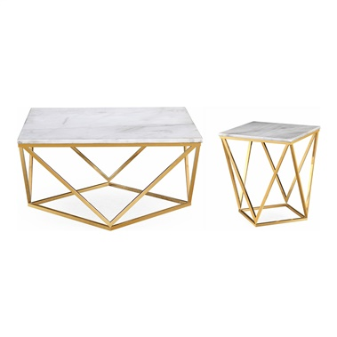 Clarence Marble Table Set