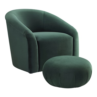 Gwynn Lounge Chair and Ottoman