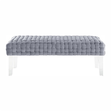 Holly Woven Velvet Bench