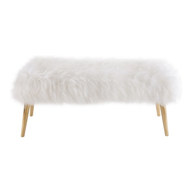 Lilia Sheepskin Bench