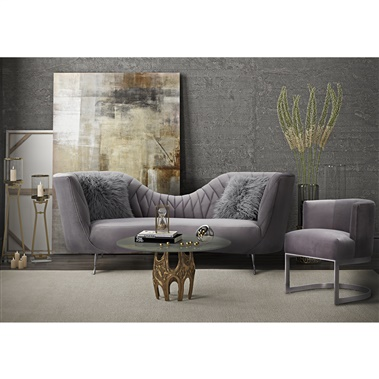 Mary Velvet Sofa Set