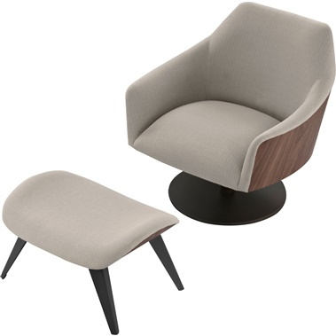Henry Lounge Chair and Ottoman