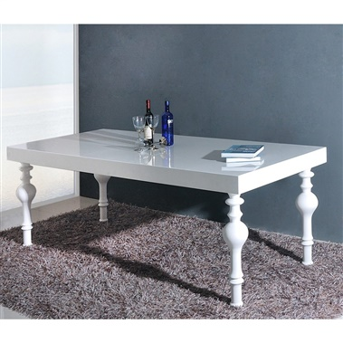Modrest Nayri - Transitional Rectangular High Gloss Dining Table