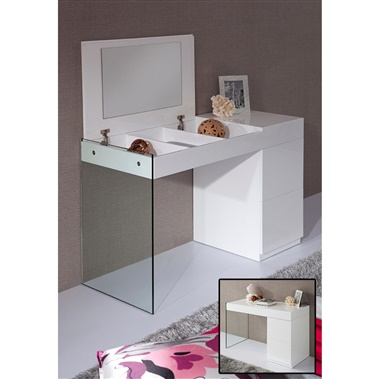 Modrest Volare - Modern Floating Glass Vanity with Mirror