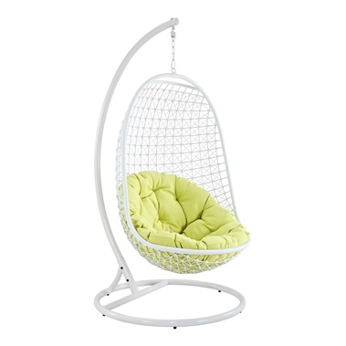 Encounter Wicker Rattan Outdoor Wicker Patio Swing Chair with Stand