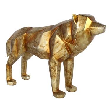 Cubist Wolf Statue