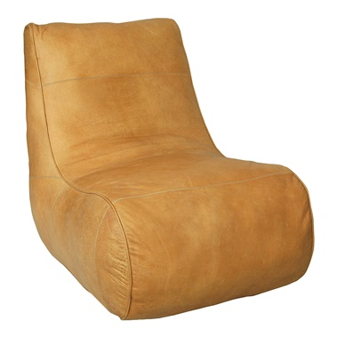 Diana Leather Slipper Chair