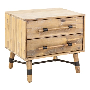 Hudson 2-Drawer Nightstand