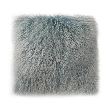 Lamb Fur Pillow in Blue