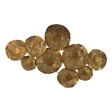 Large Gold Circles Wall Decor