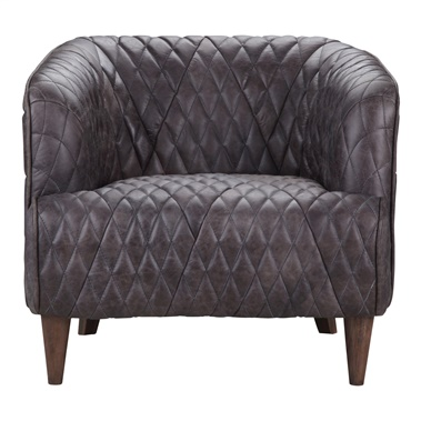 Magdelan Leather Arm Chair