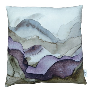 Mountains Velvet Feather Cushion