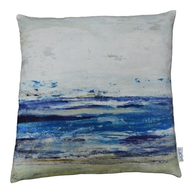 Ocean Velvet Feather Cushion