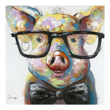 Smart Pig Wall Decor