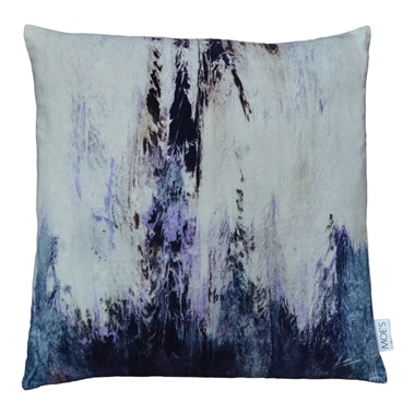 Striations Velvet Feather Cushion