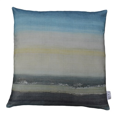 Sunrise Velvet Feather Cushion