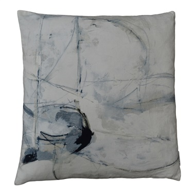 Trajectory Velvet Feather Cushion