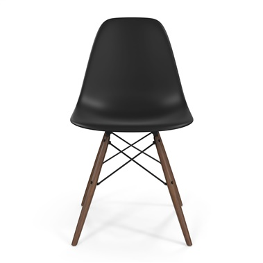 Molded Fiberglass Side Chair with Wood Legs