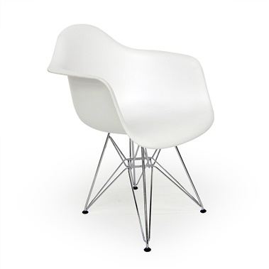 Molded Plastic Eiffel Armchair (Set of 2)