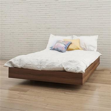 345431 Alibi Full Size Platform Bed (Walnut)