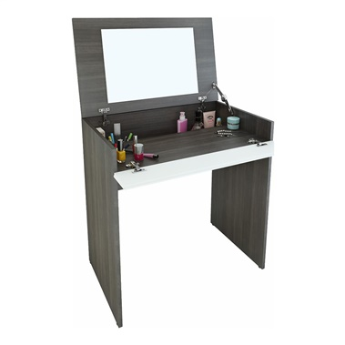 Allure Vanity with Enclosed Storage and Mirror