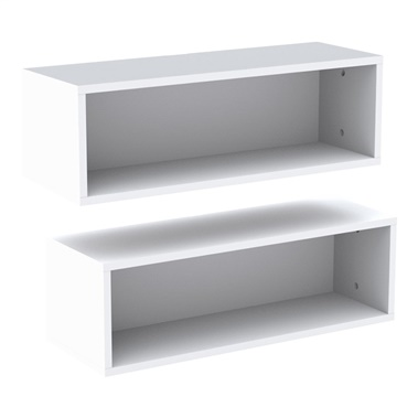 Blvd 2-Piece Rectangular Wall Shelves