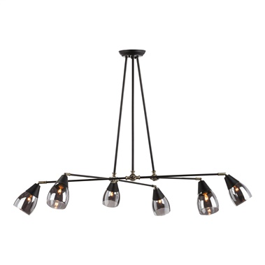 Lanister Pendant Lamp with 6 Lights - Glass Shade