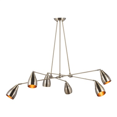 Lanister Pendant Lamp with 6 Lights - Metal Shade