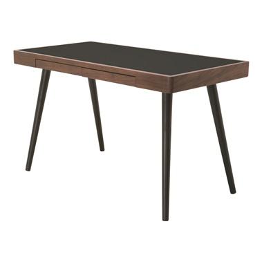 Matte Desk Table - Black and Walnut