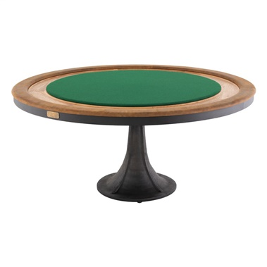 Poker Table Gaming Table - Natural and Black