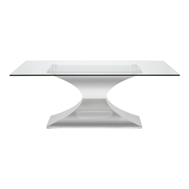 Praetorian Dining Table with Glass Top