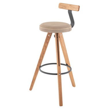 Theo Bar Stool with Back Rest