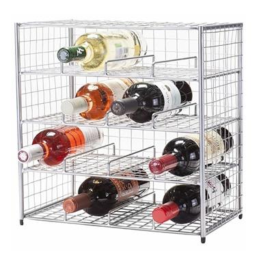 16-Bottle Bin Stackable Rack