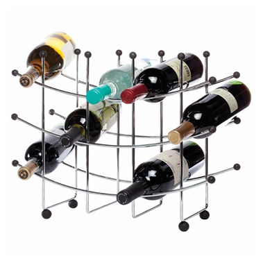 Fusion 15-Bottle Wine Rack