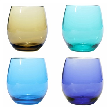 Plastic BPA Free Stemless Glasses (Set of 4)