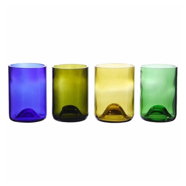 Wine Bottle Tumblers (Set of 4)