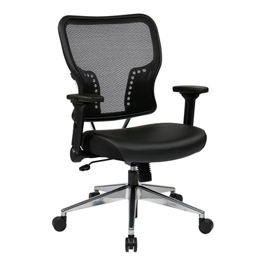 AirGrid Back and Bonded Leather Seat Chair