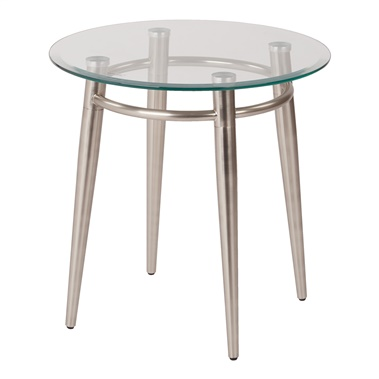 Brooklyn Glass Round End Table