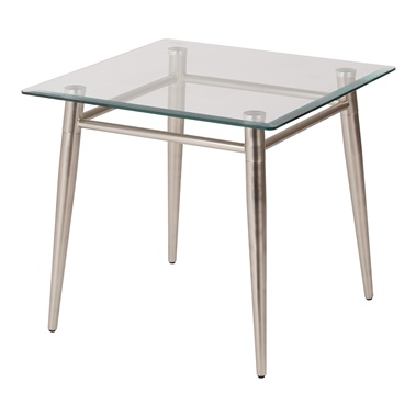 Brooklyn Glass Square End Table